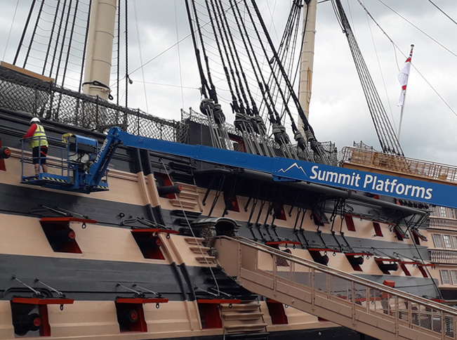 Summit Platforms called in to help keep HMS Victory shipshape